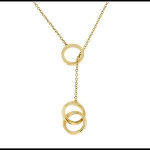Tiffany 18k Hold Lariat Circles Necklace